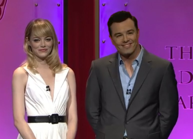Seth Macfarlane Joins Emma Stone To Announce Oscar Nominations
