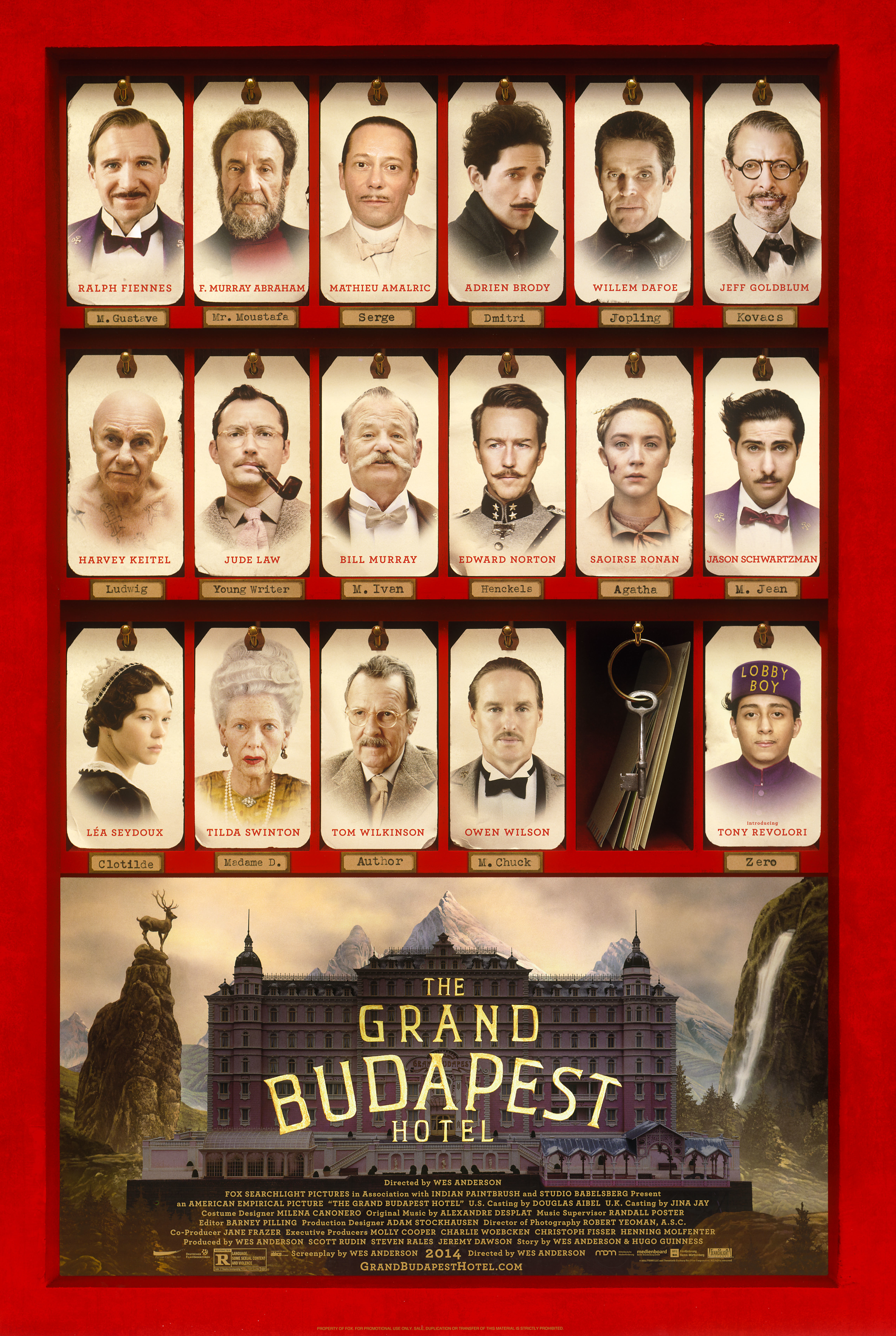 the grand budapest hotel gets 9 nominations including best
