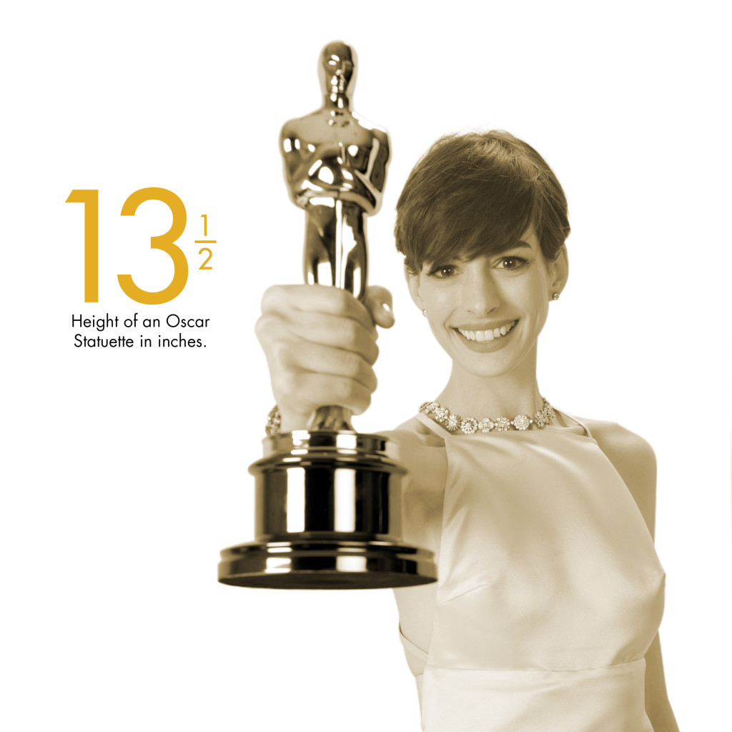 13 1 2 inches height of an oscar statuette oscar fun facts