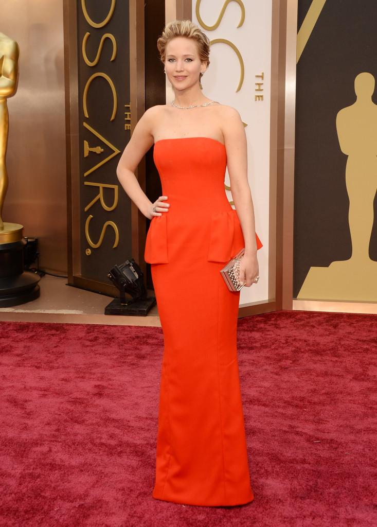 Jennifer Lawrence - 2014 Oscars: Red Carpet Color Spectrum | Academy ...