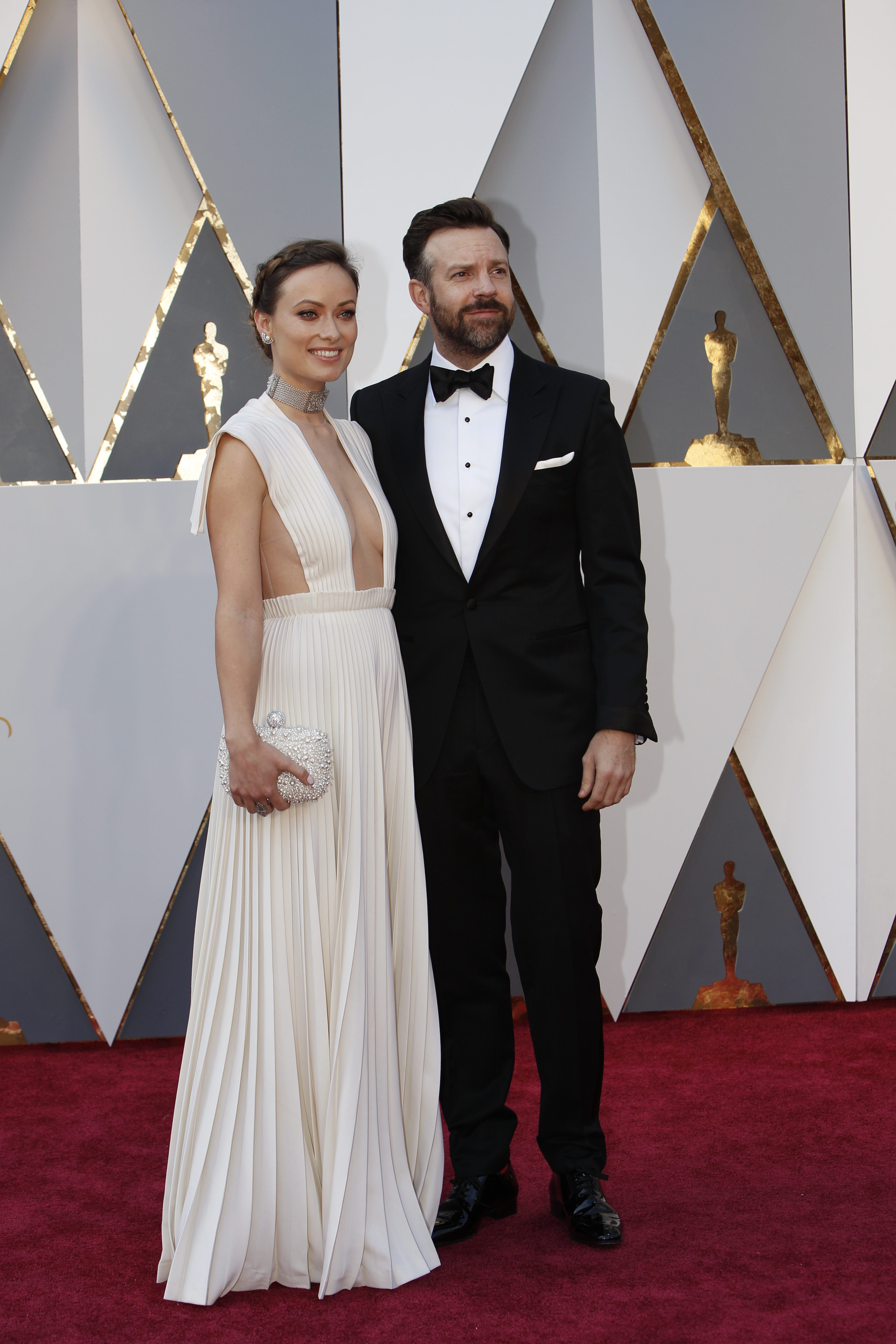 Olivia Wilde And Jason Sudeikis Oscars Red Carpet Arrivals