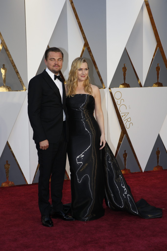 leonardo dicaprio and kate winslet�s 2016 oscars red