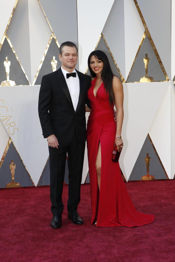 Matt Damon Oscars Red Carpet Arrivals