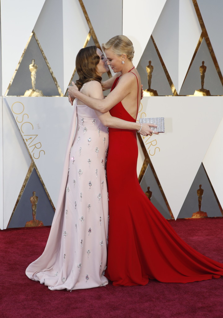 Emily Blunt And Charlize Theron Oscars Red Carpet