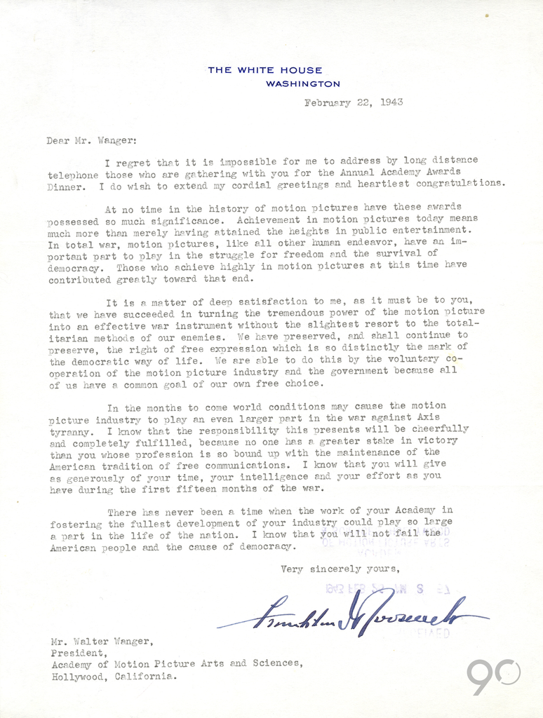A letter from fdr a letter from fdr oscars 2018 photos 90th a letter from fdr kristyandbryce Image collections