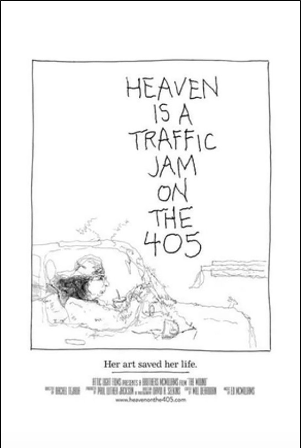 Image result for heaven is a traffic jam on the 405 poster