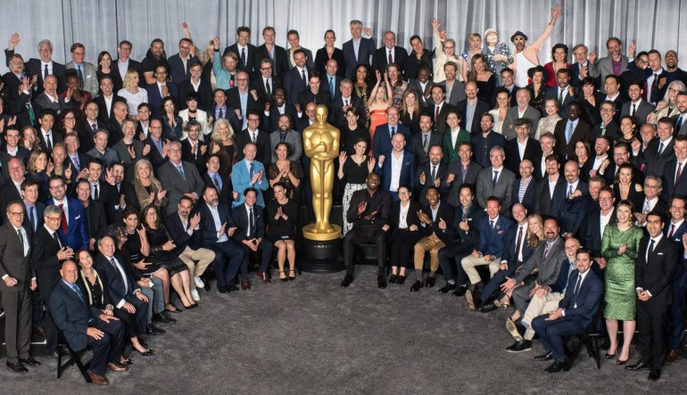 This combination of pictures created on January 23, 2018 shows (Top row,  L-R) Actors nominated for the 90th Academy Awards, The Oscars, in a leading  role: ...