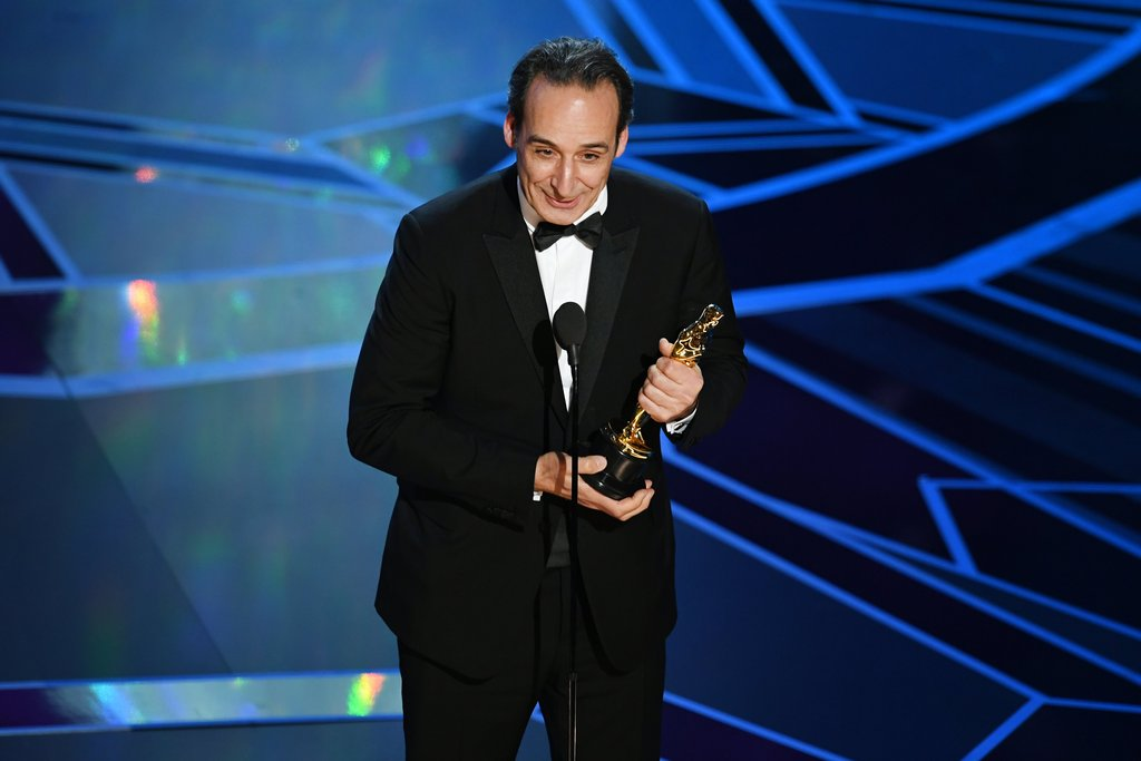 Image result for alexandre desplat oscars 2018 on stage