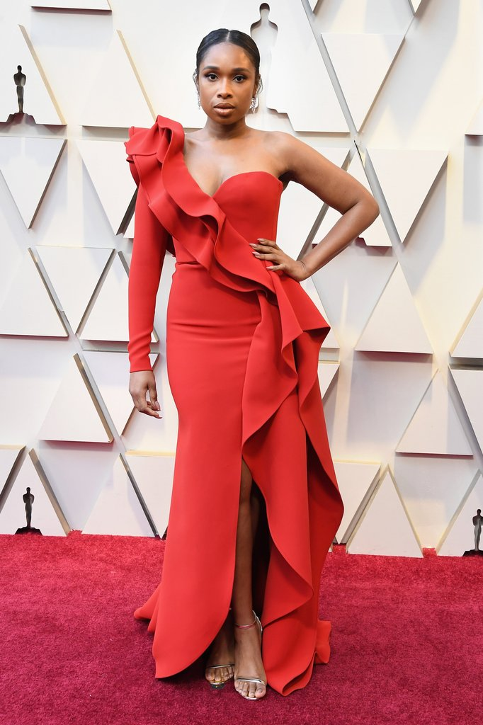 Jennifer Hudson On The Oscars Red Carpet 2019 Oscars Red