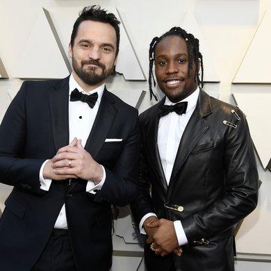 Jake Johnson and Shameik Moore on the Oscars Red Carpet 2019