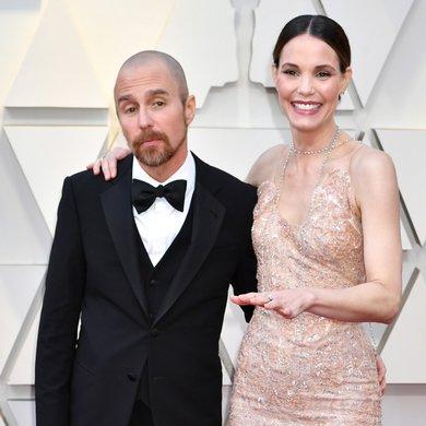 Sam Rockwell and Leslie Bibb on the Oscars Red Carpet 2019