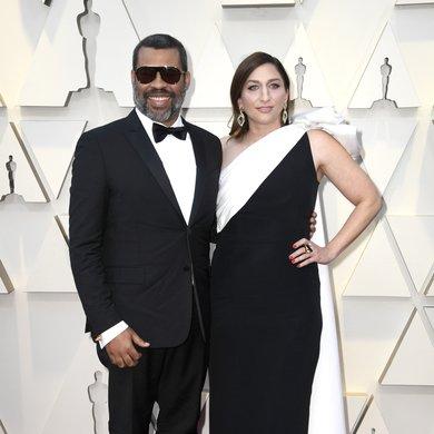 Jordan Peele and Chelsea Peretti on the Oscars Red Carpet 2019