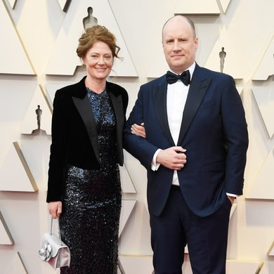 Caitlin Feige and Kevin Feige on the Oscars Red Carpet 2019