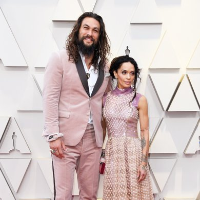 Lisa Bonet and Jason Momoa in Karl Lagerfeld on the Oscars Red Carpet 2019