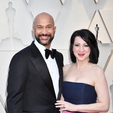 Keegan-Michael Key and Elisa Pugliese on the Oscars Red Carpet 2019