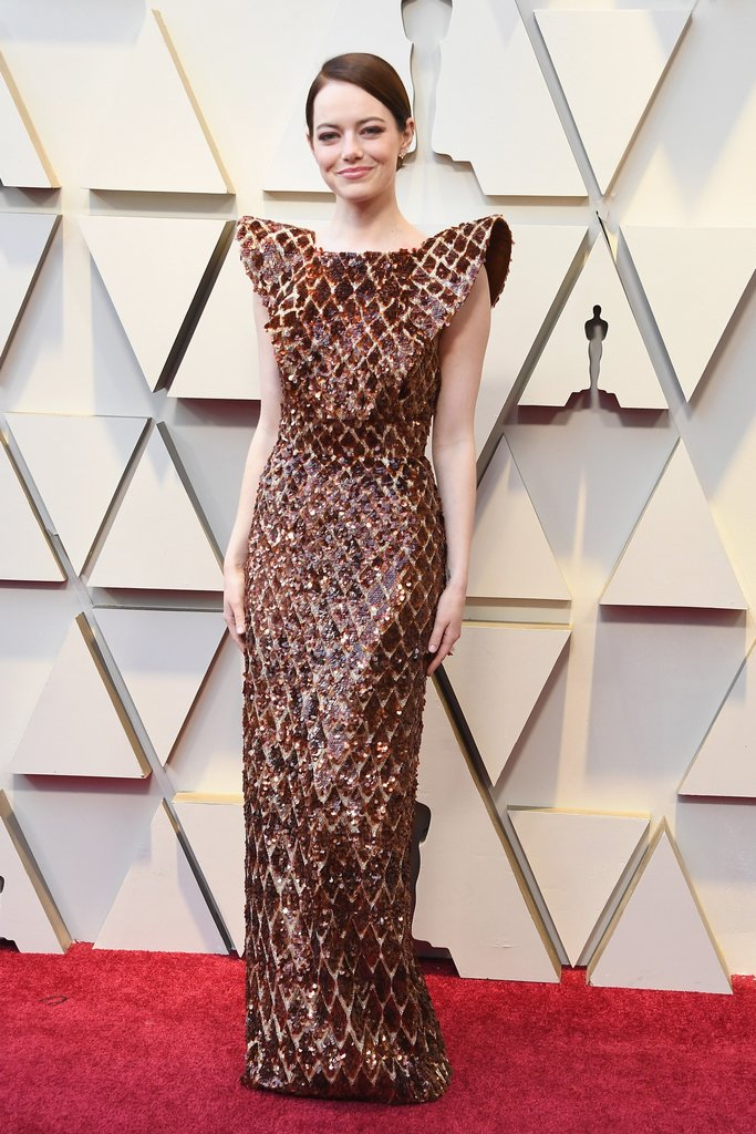 Emma Stone S Oscars 2019 Dress Oscars Red Carpet Arrivals 2019