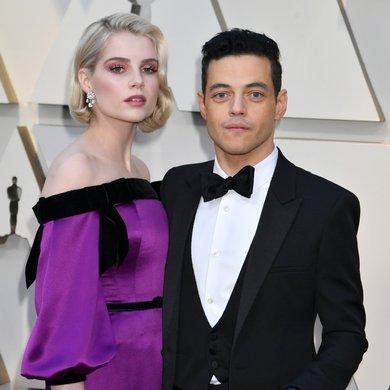 Rami Malek and Lucy Boynton on the Oscars Red Carpet 2019