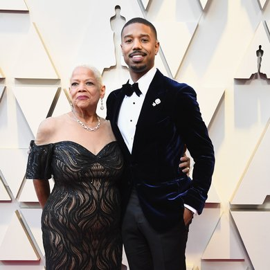 Michael B. Jordan and His Mom on the Oscars Red Carpet 2019