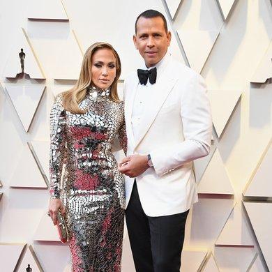 Jennifer Lopez and Alex Rodriguez on the Oscars Red Carpet 2019
