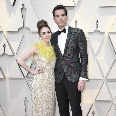 Annamarie Tendler and John Mulaney on the Oscars Red Carpet 2019