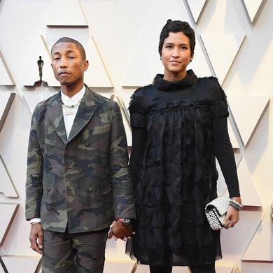 Pharrell Williams and Helen Lasichan on the Oscars Red Carpet 2019
