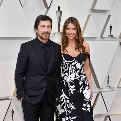 Christian Bale and Sibi Blazic on the Oscars Red Carpet 2019
