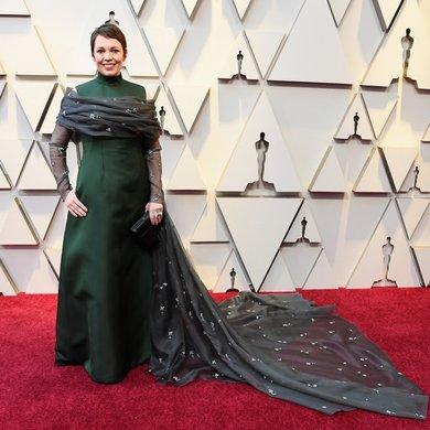 Olivia Colman on the Oscars Red Carpet 2019