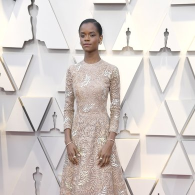 Letitia Wright on the Oscars Red Carpet 2019