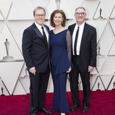 Brad Bird, Nicole Paradis Grindle, John Walker on the Oscars Red Carpet 2019