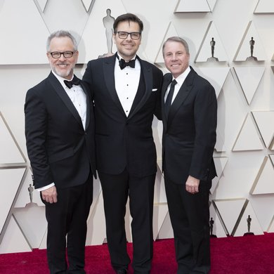 Rich Moore, Phil Johnston, Clark Spencer on the Oscars Red Carpet 2019