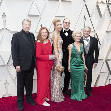 Greg Cannom, Kate Biscoe, Patricia Dehaney on the Oscars Red Carpet 2019