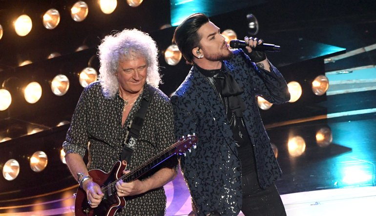 Image result for queen and adam lambert oscars 2019