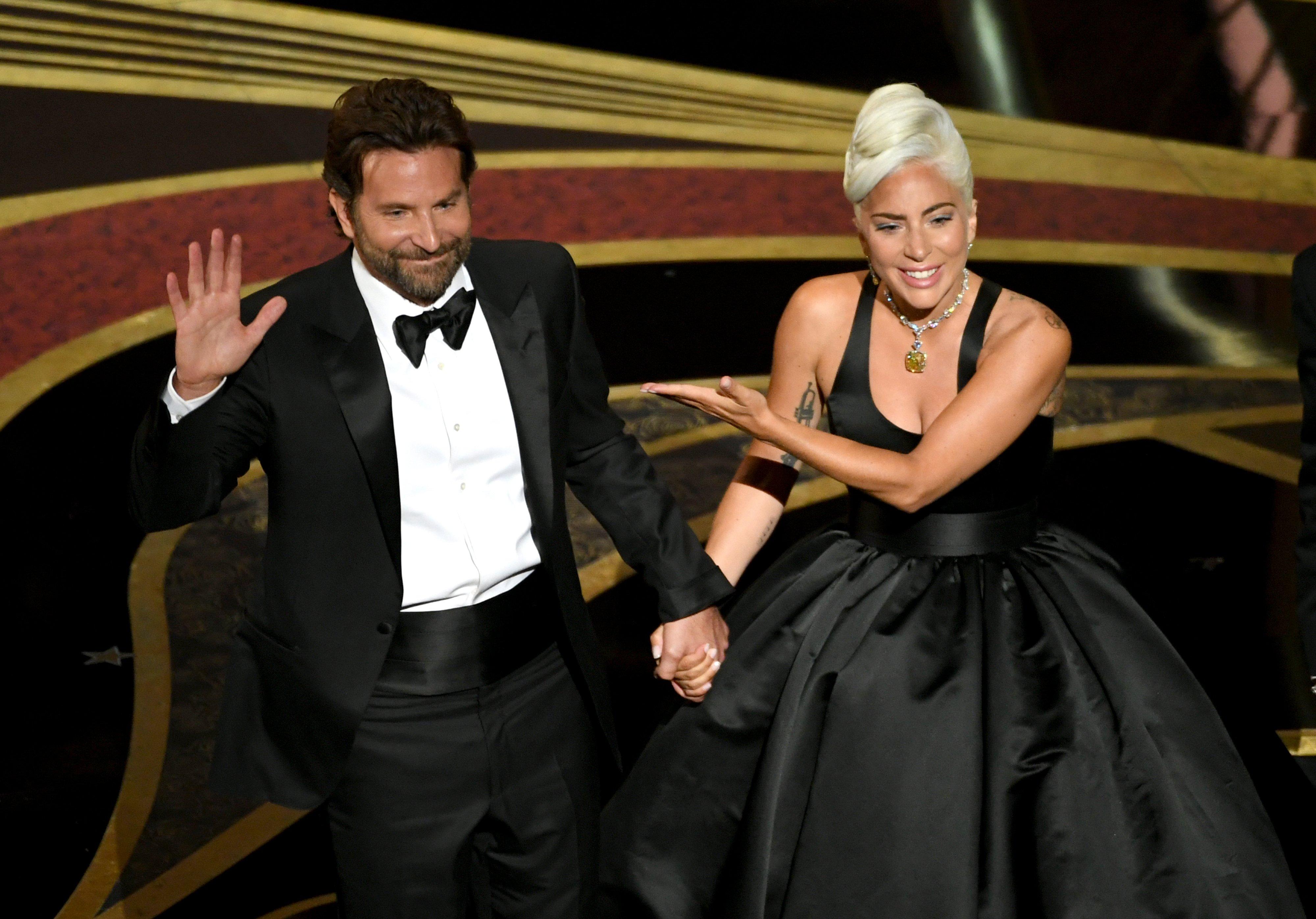 Oscars 2019 Lady Gaga And Bradley Cooper Interviews Photos