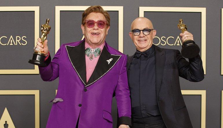 Resultado de imagen de Elton John and Bernie Taupin oscar